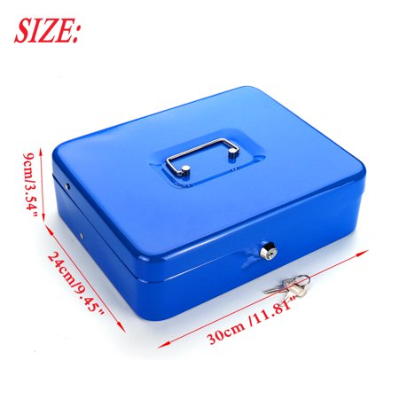 "12"" 4 Bills 5 Coins Portable Security Lock Cash Box Tiered Tray Money Drawer Storage Works Compatible Epson POS Printers - image 8 de 11"