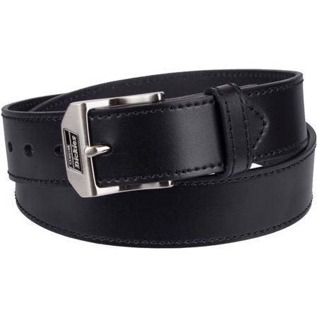 Men's Leather Work Belt with Polished Nickel