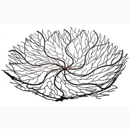 Handmade 24-Inch Copper Wire Decorative Bowl (Indonesia) - 24