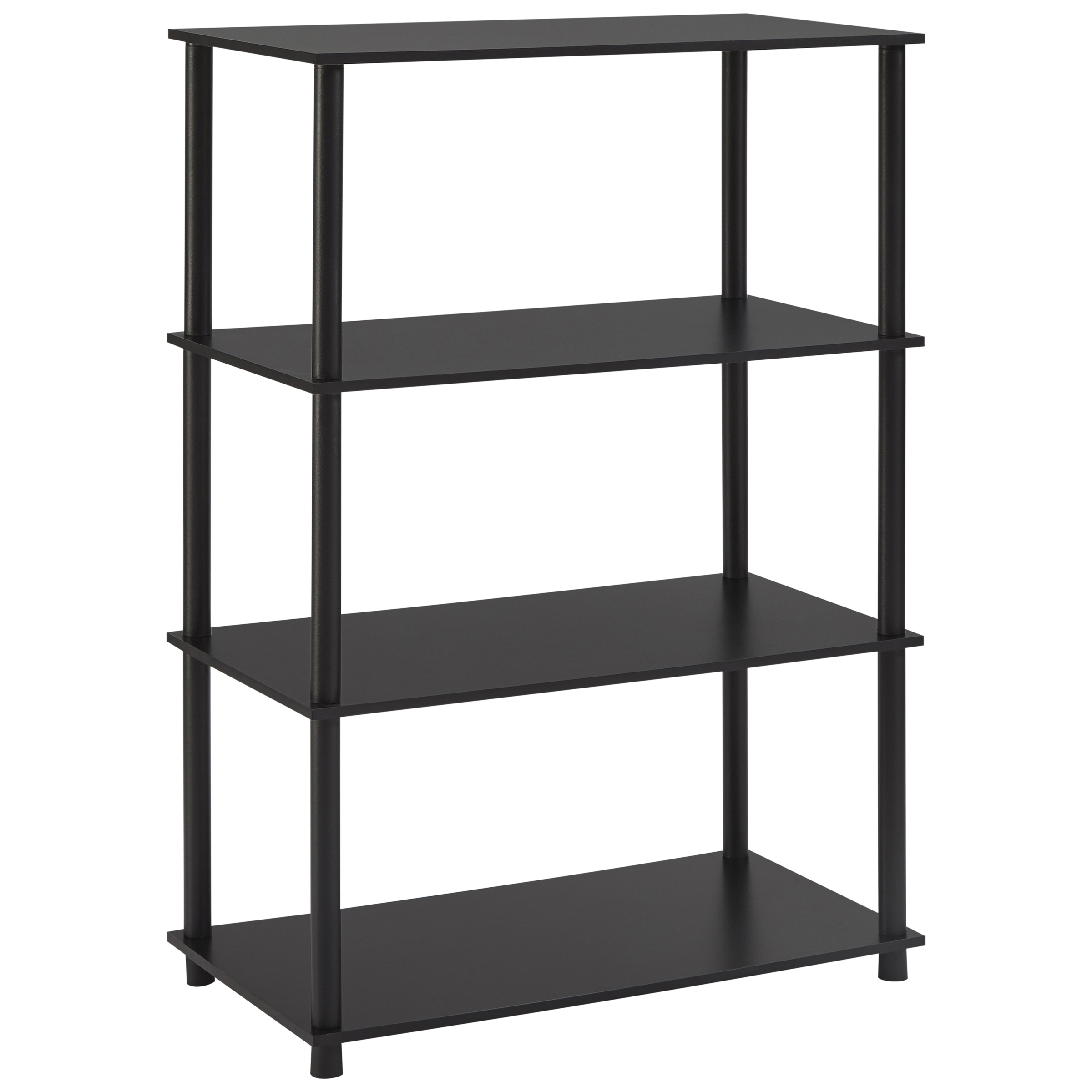 "Mainstays 42.6"" 4-Shelf Bookcase, Black Finish"