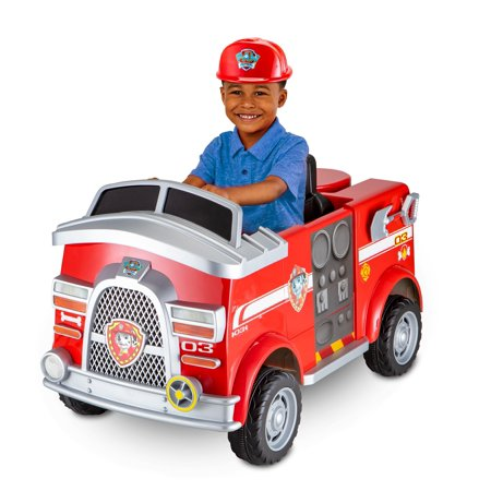 Paw Patrol Fire Truck 6 Volt powered Ride On Toy by Kid Trax, Marshall - Fire Truck For Kids To Ride