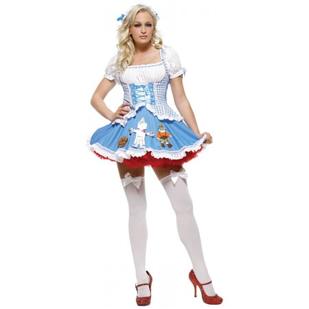 Miss Dorothy Adult Costume - X-Small - Dorothy Wizard Oz Halloween Costume