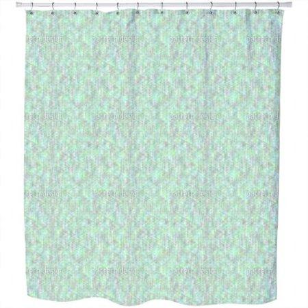 uneekee triangular hallucination shower curtain. Black Bedroom Furniture Sets. Home Design Ideas