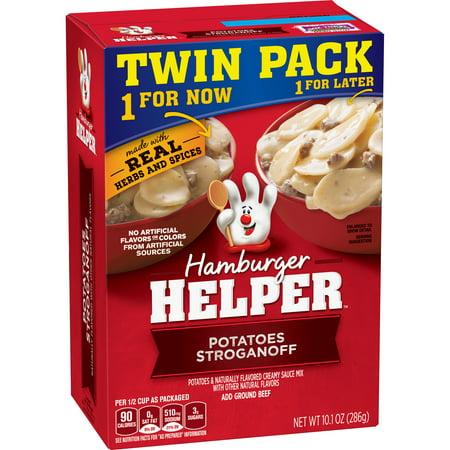 (3 Pack) Hamburger Helper Potatoes Stroganoff 10.1 Oz  (Twin