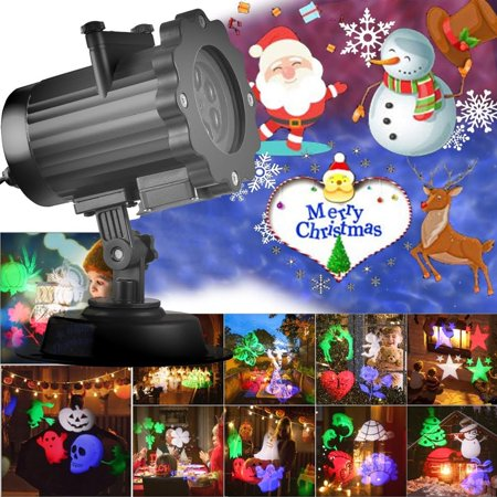 Birthday On Halloween Meaning (Projection Light, 16 Slides Animated Led Projector Light 6W Sata Claus Elk Patterns Waterproof IP44 with Remote Control, Ideal for Decoration on Christmas Halloween Birthday Party)