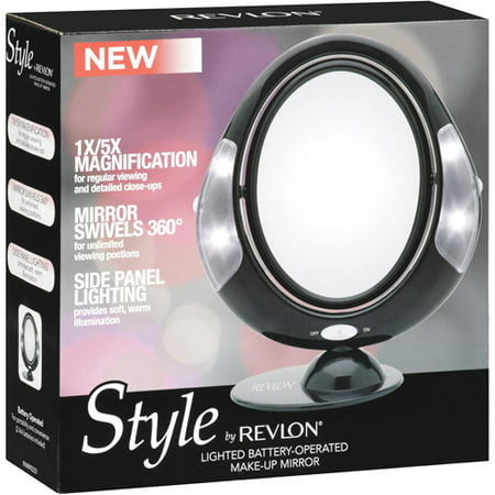 Revlon Black Led Lighted Mirror Walmart Com