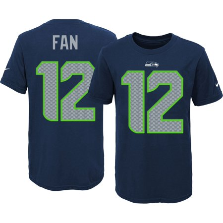 Nike Youth Seattle Seahawks Fan  12 Navy T-Shirt - Walmart.com e5075617a