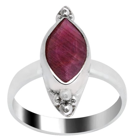 Orchid Jewelry Silver Overlay 2.2 Carat Ruby Fashion Ring for Women (Ruby July Birthstone Womens Ring)