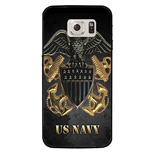 Ganma SUPER TUFF 360 Case For Samsung Galaxy Cool USN Navy Seals Logo Cover Shell Fashionable Golden Design U.S.Navy Seals Phone Case Unique Design Cover Case For Samsung Galaxy S8+ PLUS (6.2 inch)