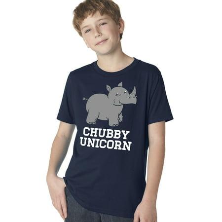 Youth Chubby Unicorn Tshirt Funny Cute Adorable Rhino Jungle Animal Tee - Cute Chubby Teen