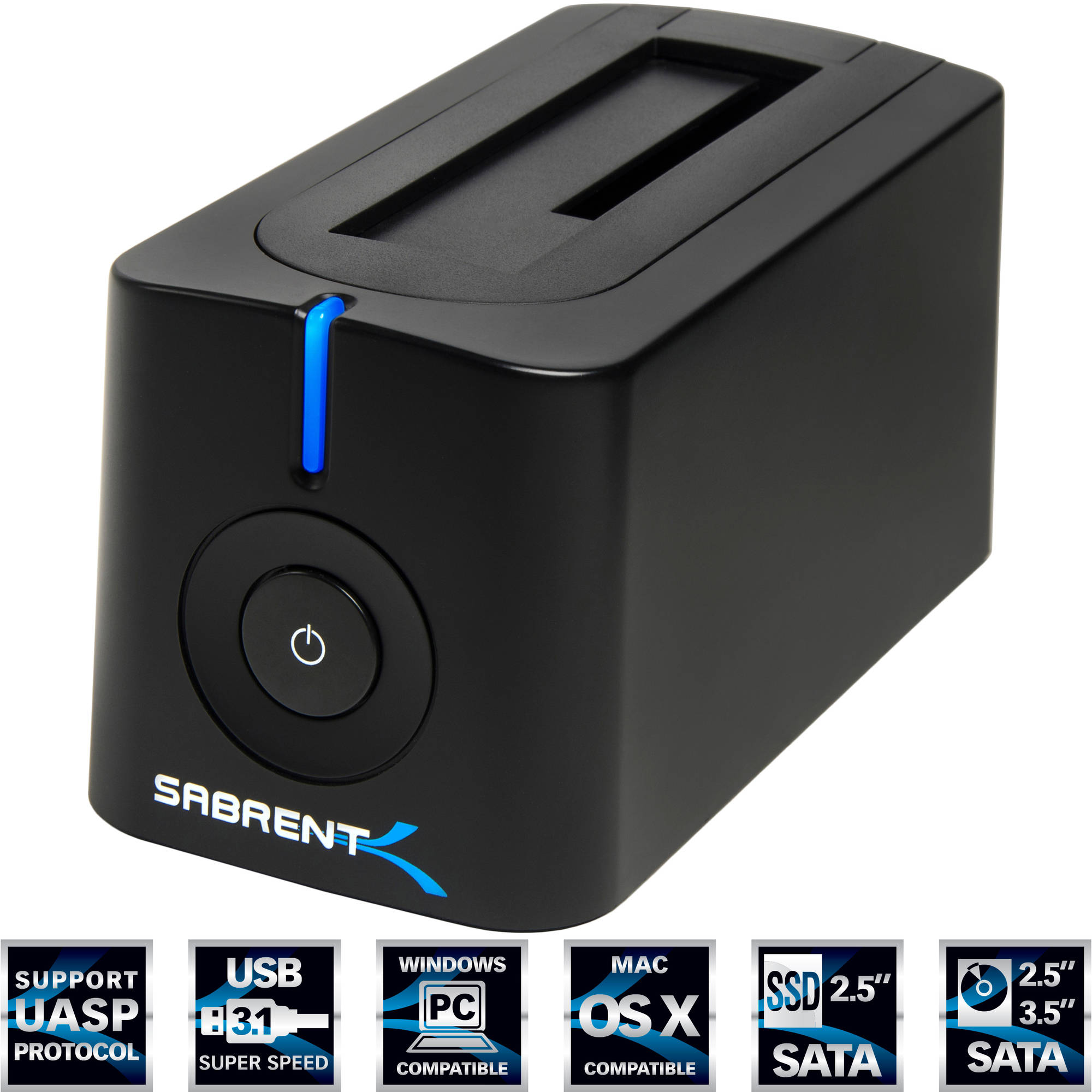 "Sabrent DS-UBLK USB 3.0 SATA 2.5"" and 3.5"" Hard Drive Docking Station"