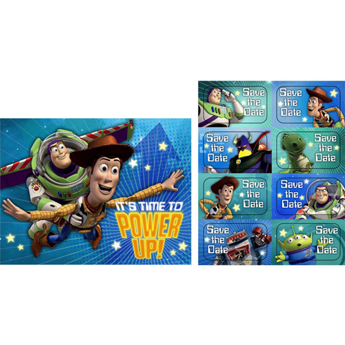 Toy Story Game Time Invitation Set W Envelopes 8ct Walmart Com