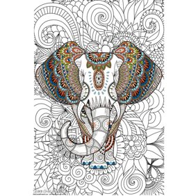 Mandala Madness – Giant Wall Size Coloring Poster
