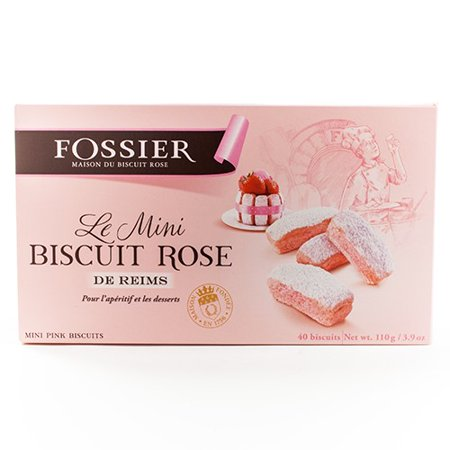 Mini Biscuits Roses (Pink Champagne Biscuits) by Fossier (0.366 pound)