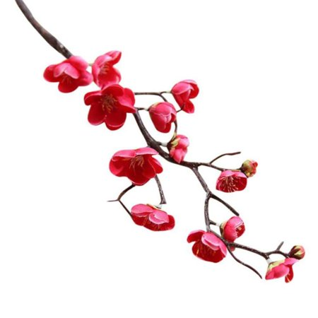 Artificial Flower Fake Leaf Plum Blossom Floral Wedding Party Home - Plum Wedding