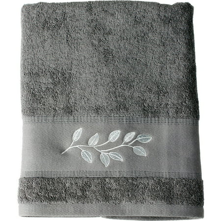 Mainstays Silver Leaves Bath Towel, 1 (Best Decorative Towels)