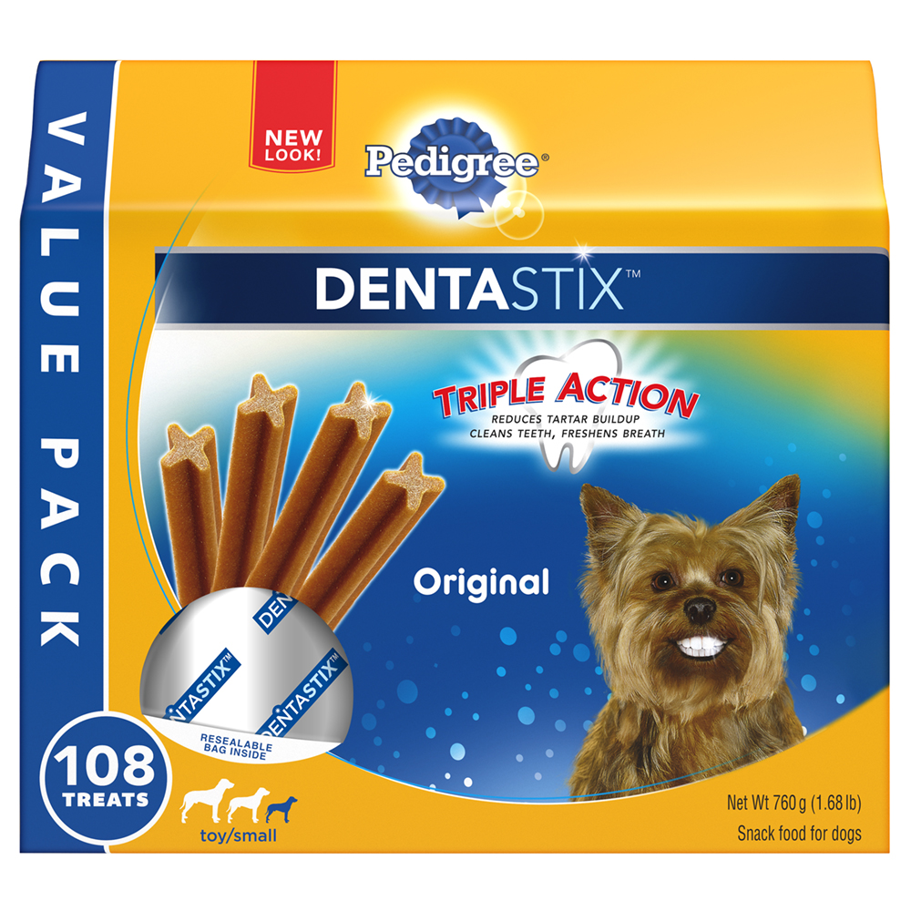 PEDIGREE DENTASTIX Original Toy/Small Treats for Dogs 1.68 Pounds 108 Count