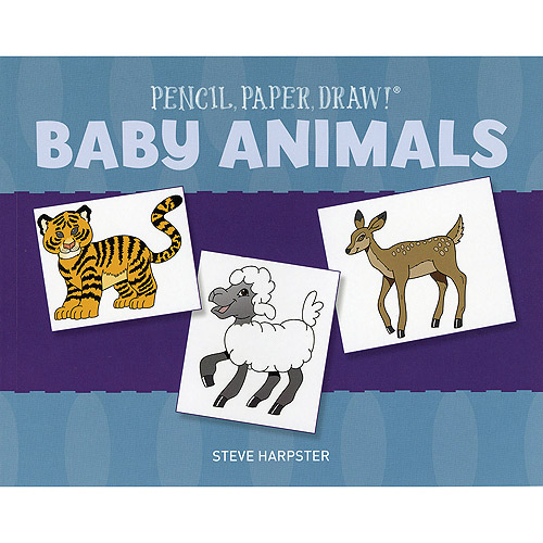Sterling Publishing Pencil, Paper, Draw! Baby Animals