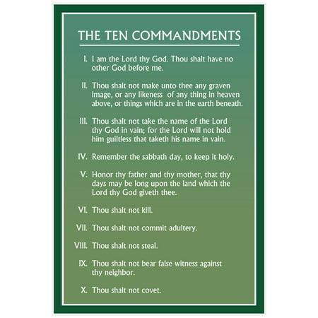 Mormon Ten Commandments Poster - 13x19 - Ten Commandments Poster