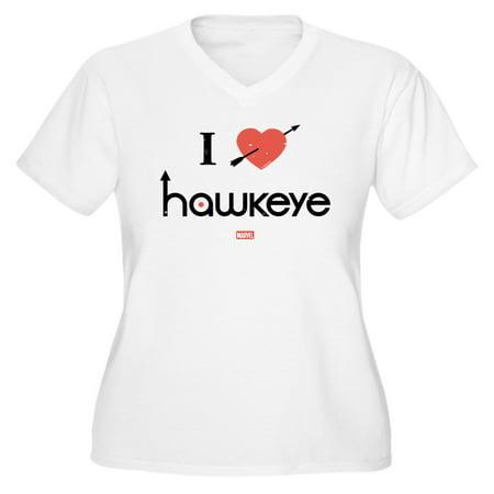 c52d27f452 CafePress - CafePress - I Heart Hawkeye R - Women's Plus Size V-Neck T-Shirt  - Walmart.com