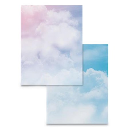 Wausau Papers 91252 Pre-Printed Clouds Paper, Multi-color - Pack of - Cloud Paper