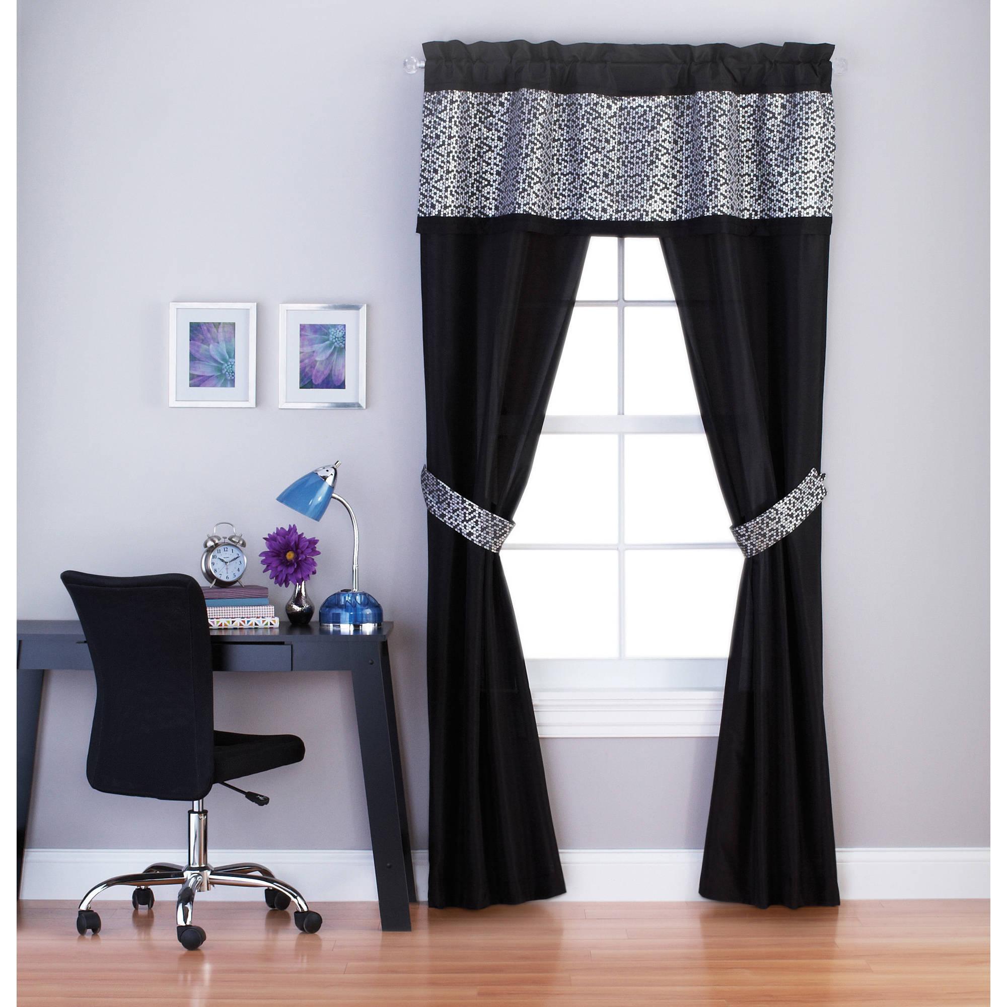 your zone sparkle 5-piece window panel set