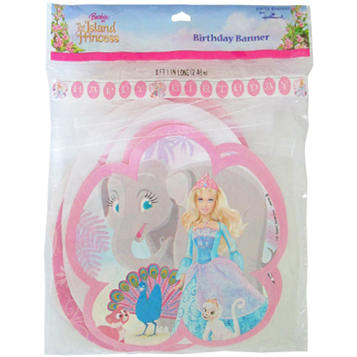 Barbie 'Island Princess' Happy Birthday Banner (1ct)