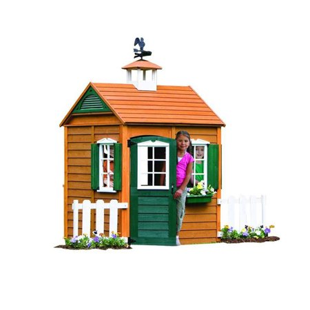 Big Backyard Bayberry Ready-to-Assemble Wooden Playhouse (School House Wood)
