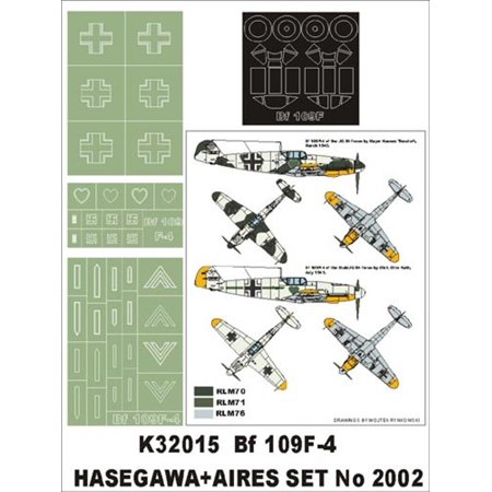 Montex Super Mask 1:32 Bf 109 F-4 for Hasegawa+Aires Kit #1 #K32015