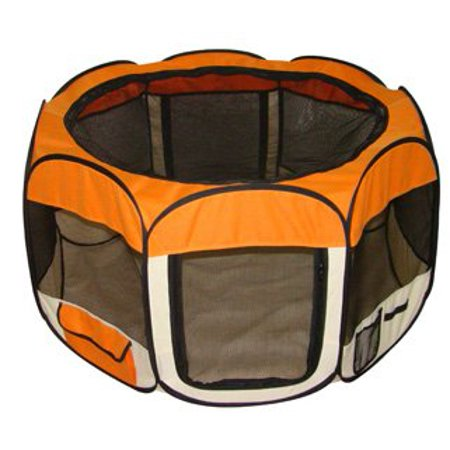 Orange Pet Dog Cat Tent Puppy Playpen Exercise Pen