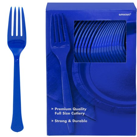 Purple Cake Fork - Royal Blue, Big Party Pack, Mid Weight Forks, 100 Per Pack