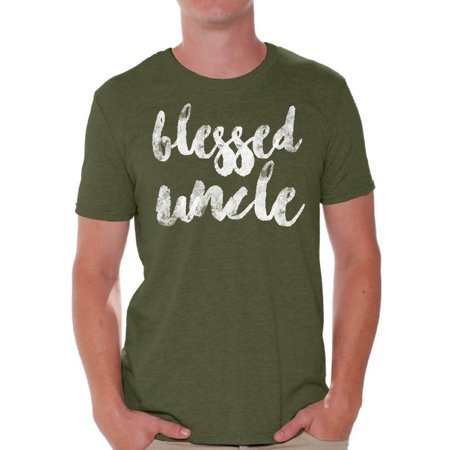 Awkward Styles Blessed Uncle T Shirt Best Uncle Shirt Father`s Day Men Shirt Father`s Made in USA Shirt God Blessed Uncle Shirt Best Uncle Gift Tshirt for Dad Gifts for Uncle Father`s