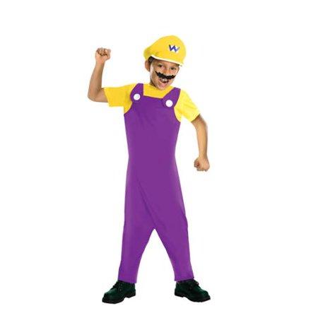 Super Mario Bros Wario Costume Child