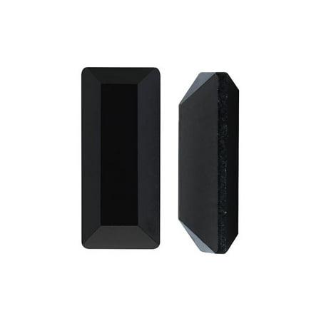 Swarovski Crystal, #4501 Baguette Fancy Stone 7x3mm, 4 Pieces, Jet (4501 Series)