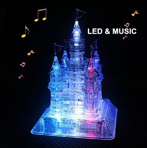 3D Musical Puzzle Crystal Castle Assembly Puzzle 3D Jigsaw with Beautiful Light-Up by... by StillCool