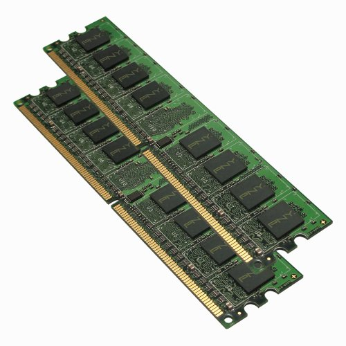 PNY - DDR2 - 2 GB: 2 x 1 GB - DIMM 240-pin - 667 MHz / PC2-5300 - unbuffered - non-ECC