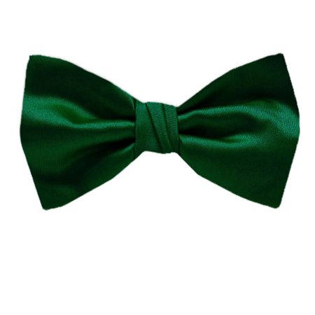 BuyYourTies - PBT-ADF-17 - Men's Pre-tied Formal Tuxedo Solid Color Bow Tie Hunter Green (Green Bow Ties)
