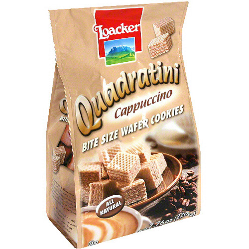 Loacker Quadratini Cappuccino Cookies, 7.76 oz (Pack of 8)