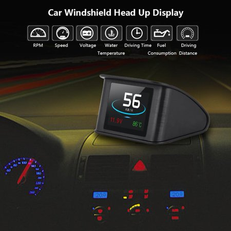 eecoo p10 universal car hud head up display obd2 speed. Black Bedroom Furniture Sets. Home Design Ideas