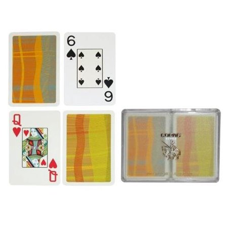 - Silver Series Bridge Size Playing Cards (Geometric), 100% PVC plastic, these cards will last for years outlasting paper cards up to 500 times By Copag