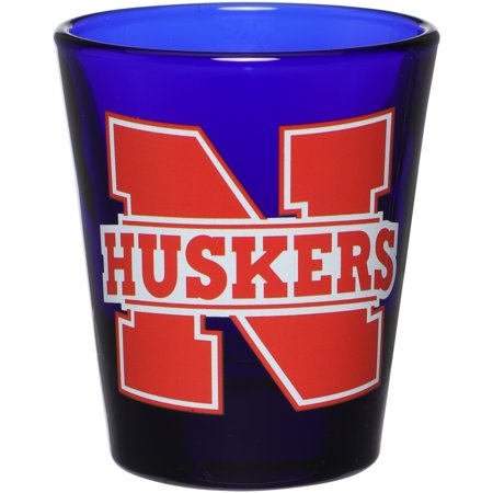 Nebraska Cornhuskers 2oz. Color 3D Shot Glass - Blue - No Size - Customizable Shot Glasses No Minimum