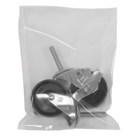 PB8800 8 Inch x 10 Inch high clarity polyethylene film heavy-duty 8 Mil Clear Poly Flat Close Bags with Twist Ties CASE OF - Heavy Duty Flat Poly Bag