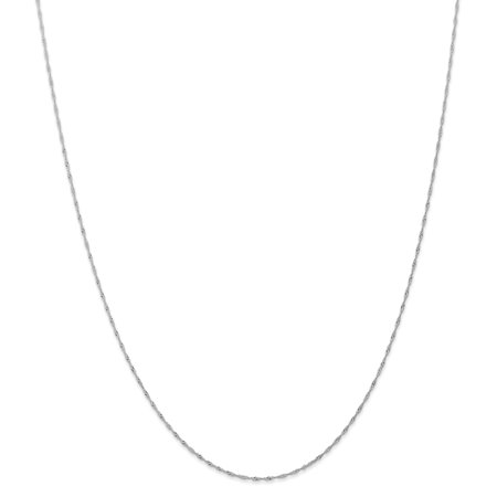 14K White Gold 1mm Singapore Chain (CARDED) 20 Inch - image 6 de 6