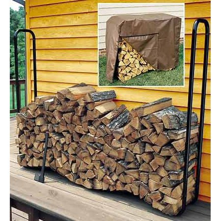 Medium Tear and Mildew Resistant Wood Rack Cover 50 L x 24 W x 36 H, high density polyvinyl and polyester By Plow Hearth ()