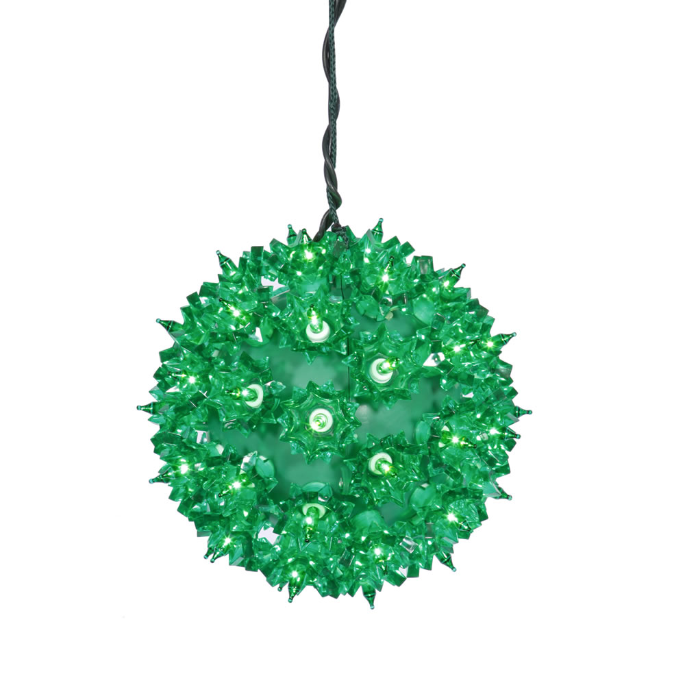 "50Lt x 6"" Green Starlight Sphere"