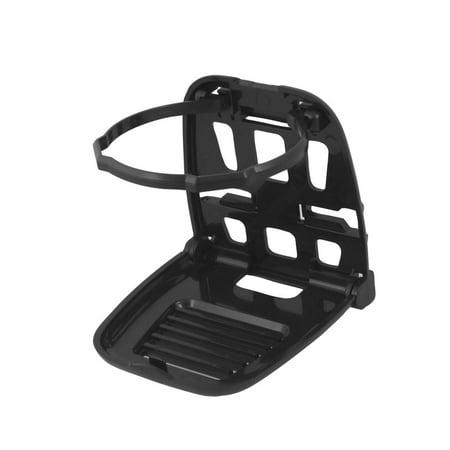 Practical Plastic Back  Folding Automotive Car Cup Holder Stand for Beverage Drink Black