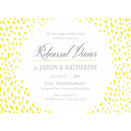Dine With Us Party Invite Standard Rehearsal Dinner