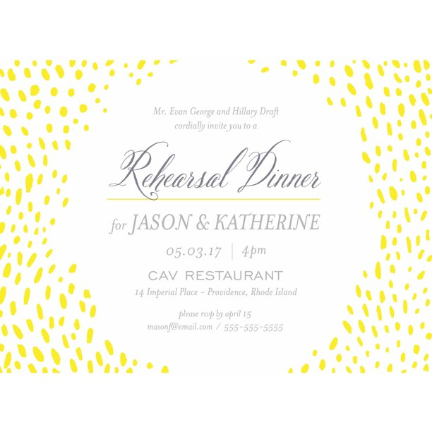 Dine With Us Party Invite Standard Rehearsal Dinner - Walmart.com ...