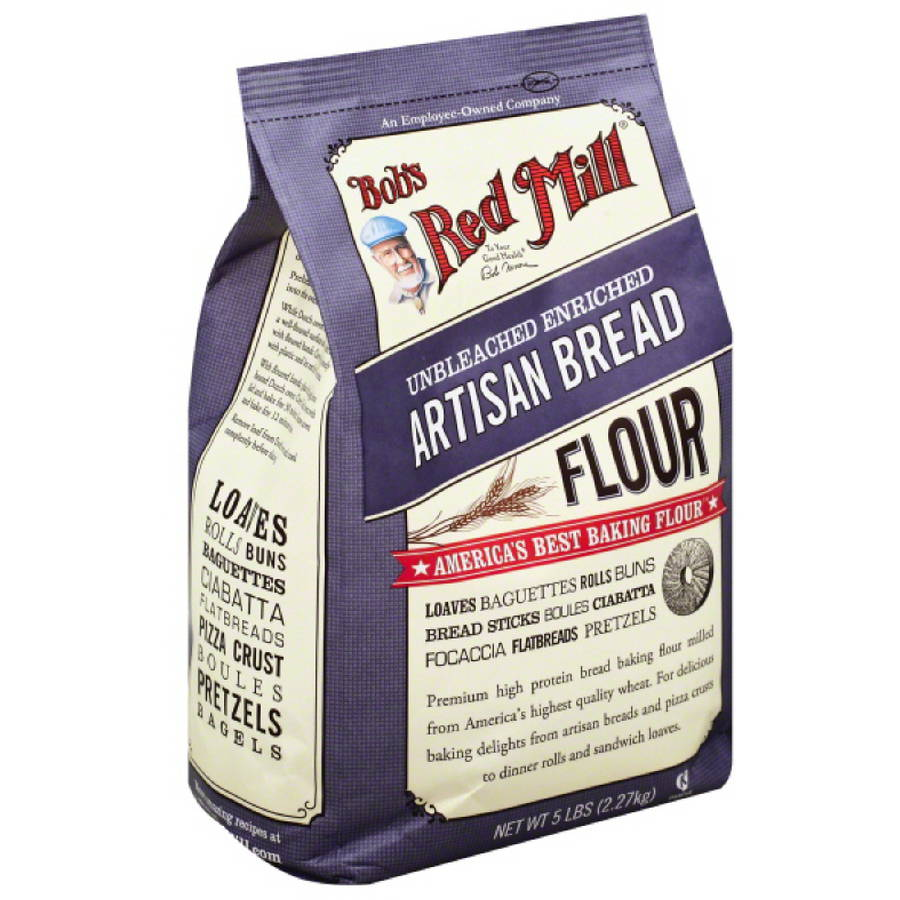Bobâ€s Red Mill Unbleached Enriched Artisan Bread Flour, 5 lb, (Pack of 6) by