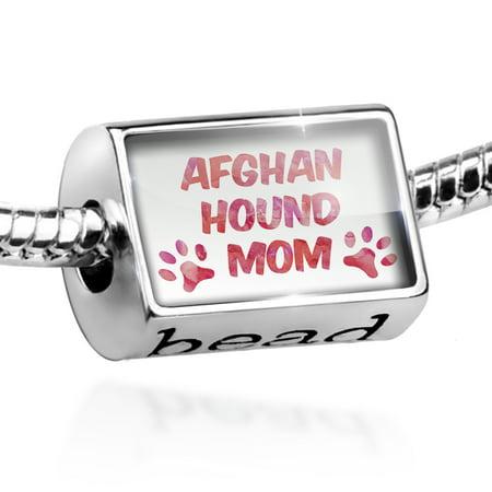 Bead Dog & Cat Mom Afghan Hound Charm Fits All European -